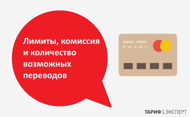 Лимиты и комиссии при переводе
